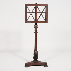Late Regency Rosewood Duet Stand