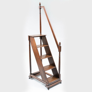 English Oak Library Ladder