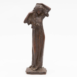 After Bessie Potter Vonnoh (1872-1955): Standing Female Figure