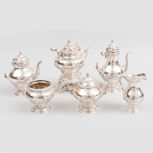 Gorham Silver Six Piece Tea and Coffee Service