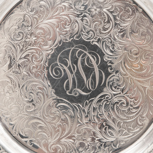 Twelve Towle Engraved Silver Bread Plates