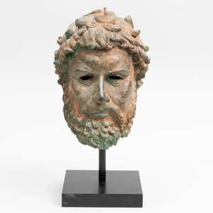 Classical Style Bronze Model of a Head of a Man