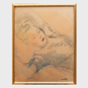 Raymond Kanelba (1897-1960): Reclining Woman