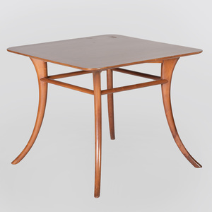 Walnut Side Table in the Manner of Robsjohn-Gibbings