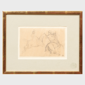Thomas Esmond Lowinsky (1892-1947): Study of Two Horses with Riders