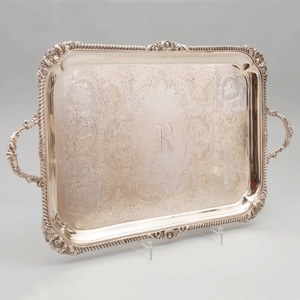 Edward VII Silver Two Handled Tray