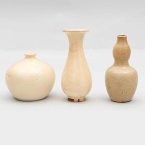 Three Chinese White Glazed Porcelain Vessels