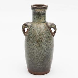 Three Small Asian Brown Glazed Stoneware Vessels