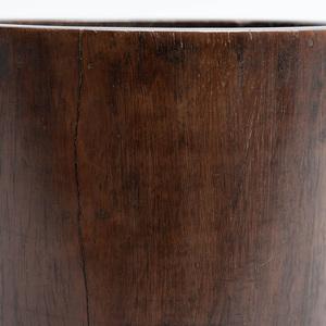Chinese Carved Hardwood Brush Pot