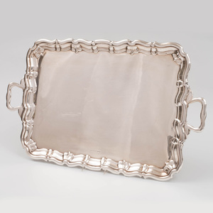 George VI Silver Serving Tray