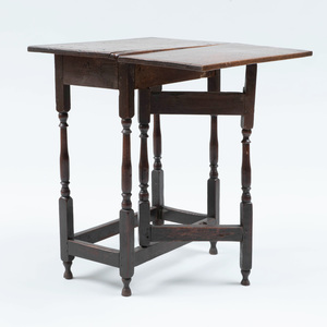 William and Mary Oak Dropleaf Table