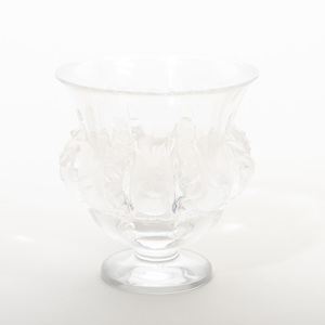 Lalique Glass 'Dampierre' Vase and 'Phalsbourg' Wine Decanter and Stopper