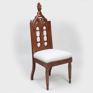 Gothic Oak Side Chair