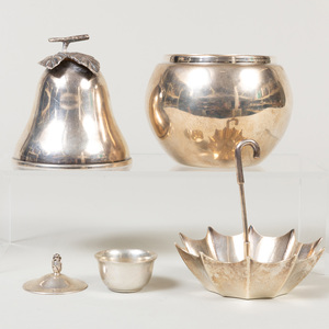 Group of Tiffany & Co. and Continental Silver Table Wares