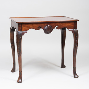 George III Style Mahogany Tray Top Tea Table