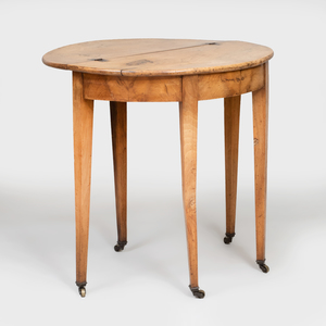 Rustic Fruitwood Drop Leaf Games Table