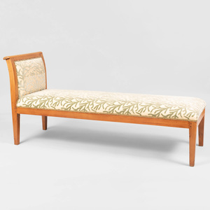 Neoclassical Style Fruitwood Chaise Lounge