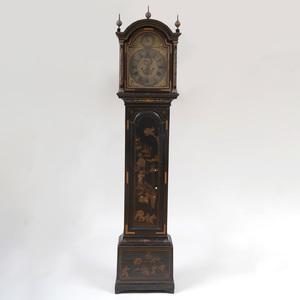 George II Black Japanned Longcase Clock