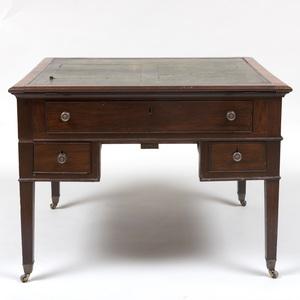 Late George III Mahogany Partner's Desk