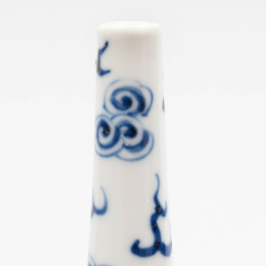Chinese Blue and White Porcelain Bottle Vase Decorated with Kylin