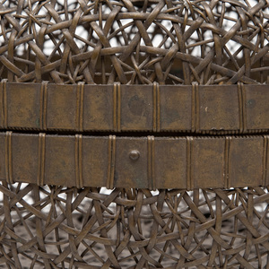 Japanese Bronze Reticulated Basket and Cover