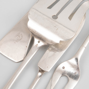 Hungarian Silver Part Flatware Service