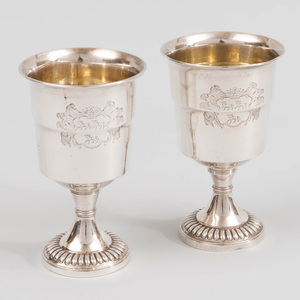 Pair of George IV Silver Footed Cups