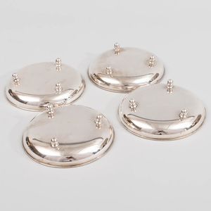 Set of Four Hungarian Silver Vide Poche