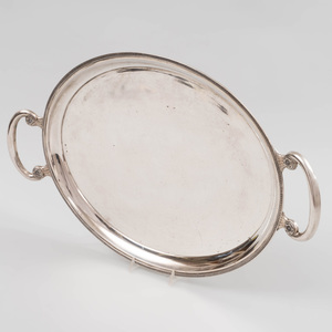 Hungarian Silver Two Handled Tray
