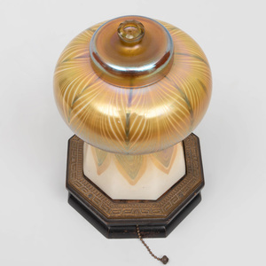 Tiffany Favrile Glass Shade Mounted as a Table Lamp
