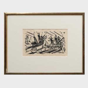 Lyonel Feininger (1871 - 1956): Schiffe und Sterne