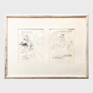 Henri de Toulouse-Lautrec (1864 - 1901): Berceuse; and L'Hareng Saur