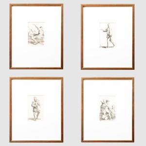 Salvator Rosa (1615-1673): Figurine: Four Plates