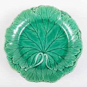 Group of Ten Wedgwood Majolica Leaf Form Plates