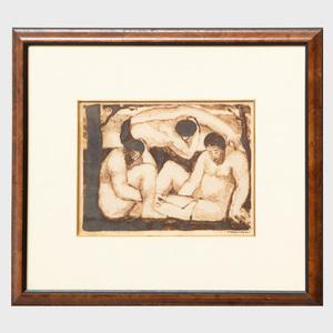 Abraham Walkowitz (1878-1965): Three Figures
