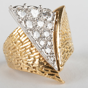 Platinum and 18K Gold, Diamond Ring