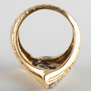 Platinum and 18K Gold, Diamond Ring
