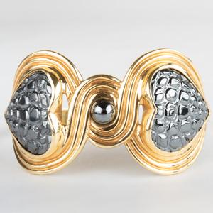 18K Gold and Hematite Bead Jewelry Suite