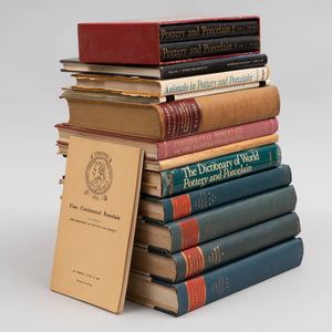 Group of Thirteen Continental Porcelain Books