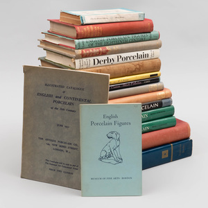 Group of Seventeen English and Export Porcelain Books