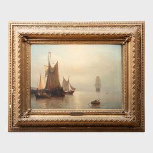 Georg Jan Hoffmann (1833-1873): Harbor Scene