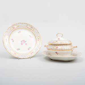 Derby Porcelain Part Dessert Service