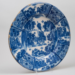 Dutch Delft Blue and White Charger