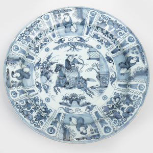 Dutch Delft Blue and White Large Charger