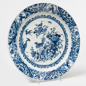Dutch Delft Blue and White Plate