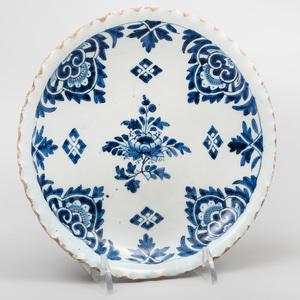 Dutch Delft Blue and White Small Plate