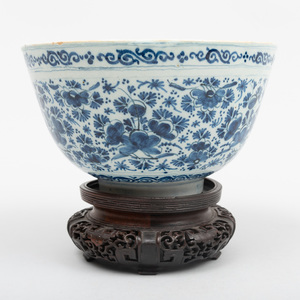 Dutch Delft Blue and White Small Punch Bowl