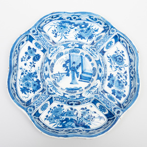Dutch Delft Blue and White Transitional Style Serving Dish