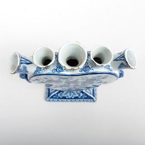 Dutch Delft Blue and White Tulip Vase