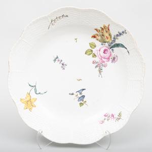 Meissen Porcelain Large Shaped Circular Serving Dish